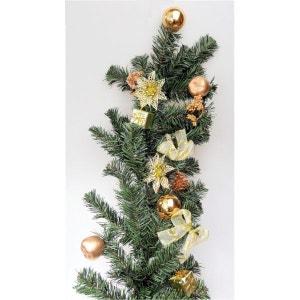 Guirlande de sapin artificiel décorée pour porte ou fenêtre - Décoration de Noël doré ! NONAME