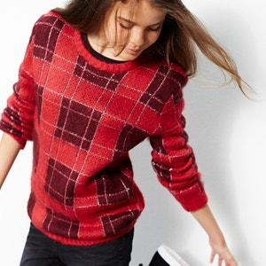 Camisola pelinho aos quadrados com fios brilhantes 10-16 anos R teens