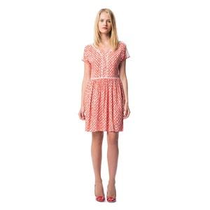 Kurzes, ausgestelltes Kleid, bedruckt BEST MOUNTAIN