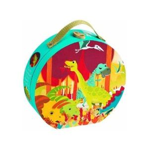 Valisette ronde : puzzle dinosaures 24 pièces JANOD