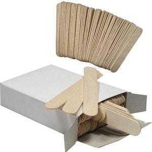 Spatule en bois pour épilation à la cire (sachet de 100) COSMETICS UNITED