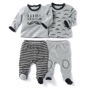 Lot de 2 pyjamas 2 pièces velours 0 mois - 3 ans La Redoute Collections