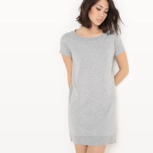 Платье-пуловер из хлопка/шелка La Redoute Collections