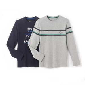 2er-Pack bedruckte Shirts, 10-16 Jahre R édition