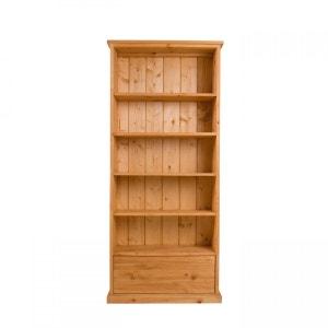 Bibliothèque Pin Massif 4 étagères 1 Tiroir Aulp COULEURS DES ALPES