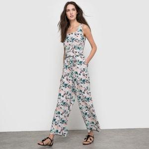 AZARI Sleeveless Floral Print Jumpsuit ICHI