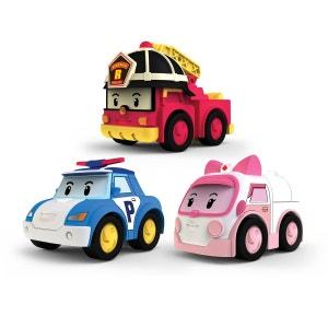 Véhicules à friction Robocar Poli : 3 véhicules Poli, Ambre et Roy OUAPS