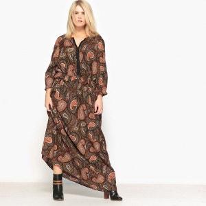robe longue imprimée cachemire CASTALUNA