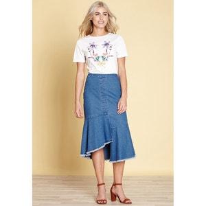 T-Shirt, runder Ausschnitt, bedruckt YUMI