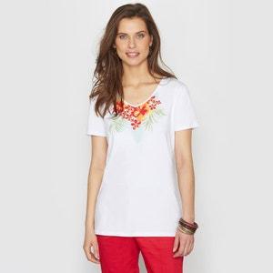 T-shirt, imprimé placé ANNE WEYBURN