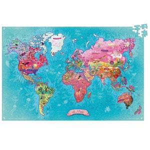 Puzzle 500 pièces : Carte du monde poétique VILAC