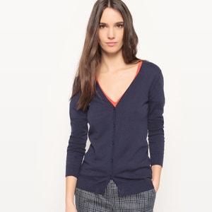 Sweter rozpinany z długimi rękawami, bawełna R édition