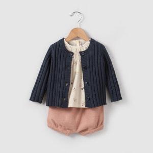 Set aus Strickjacke, Bluse und Spielhose, 0-2 Jahre R mini