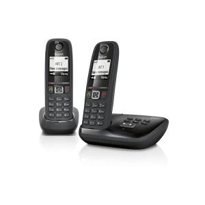 Téléphone répondeur sans fil duo GIGASET AS405A Noir GIGASET