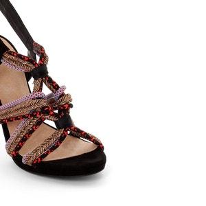 Sandalen met koord bandjes La Redoute Collections