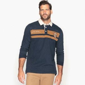 Polo bicolore, manches longues CASTALUNA FOR MEN
