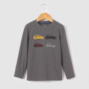 Camiseta manga larga coches 3-12 años La Redoute Collections