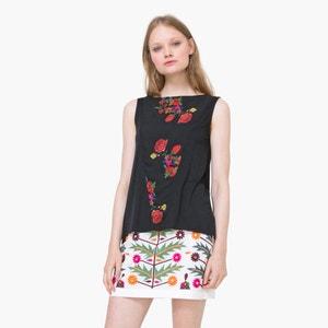 T-shirt zonder mouwen met bloemmotief DESIGUAL