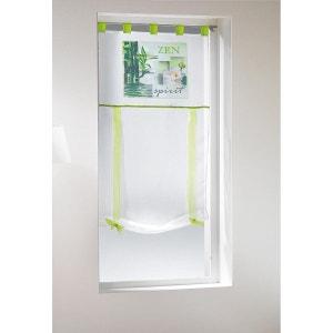 Un store droit à passant - rideau voile imprime bambou spirit 60 x 150 cm DOUCEUR D'INTÉRIEUR
