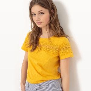 T-shirt manches courtes avec empiècement dentelle R Edition
