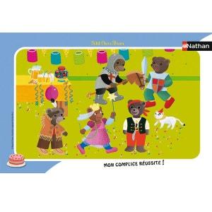 Puzzle cadre 15 pièces : Petit Ours Brun - C'est la fête NATHAN