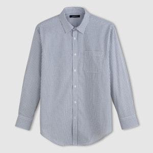 Long-Sleeved Poplin Shirt - Length 1 CASTALUNA FOR MEN
