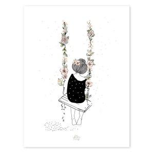 Affiche romantique balançoire LILIPINSO