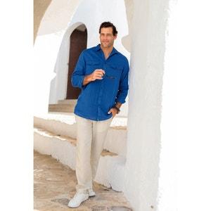 Koszula lniana z długimi rękawami CASTALUNA FOR MEN