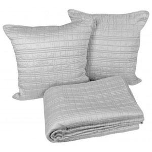 couvre lit gris chic la redoute. Black Bedroom Furniture Sets. Home Design Ideas