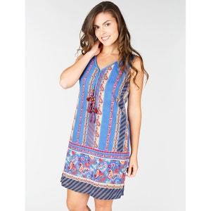 Sukienka z kaszmirowym wzorem, bez rękawów RENE DERHY