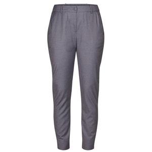 Pantaloni slim, vita alta, elastico alla caviglia NUMPH