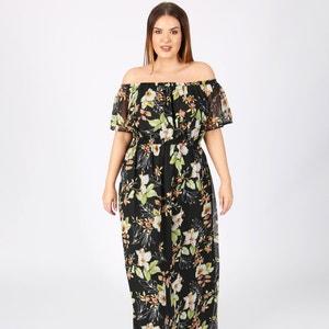 Wijduitlopende lange jurk met bloemenprint KOKO BY KOKO