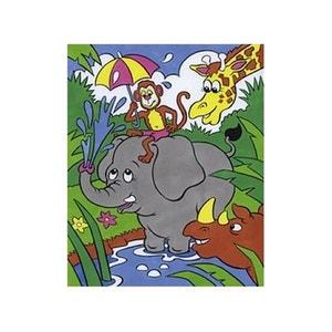 Peinture par numéros 20X25cm Jungle LEFRANC BOURGEOIS