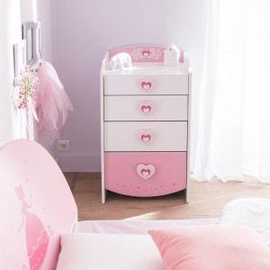 Commode féerie rose et blanc perle CO125 TERRE DE NUIT