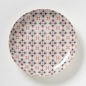 Set of 4 Dessert Plates with Mosaic Tile Motif La Redoute Interieurs