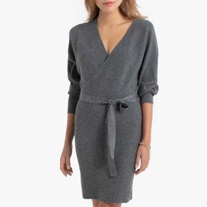 Rechte korte jurk in tricot