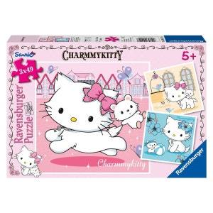 Puzzle 3 x 49 pièces : Hello Kitty : Charmmy Kitty et son meilleur ami SANRIO