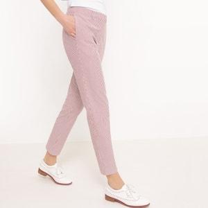 Slim Fit Seersucker Trousers R essentiel