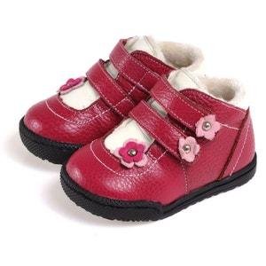 Chaussures semelle souple   Montantes fourrées 2 scratchs CAROCH