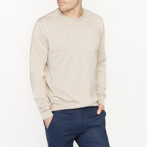 Pullover mit rundem Ausschnitt, Leinen-Melange La Redoute Collections