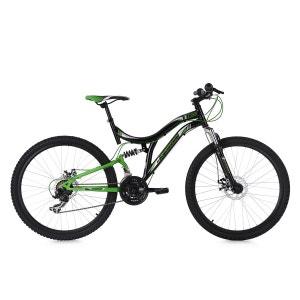 VTT Tout Suspendu 26'' Nice 21 Vitesses noir-vert KS Cycling KS