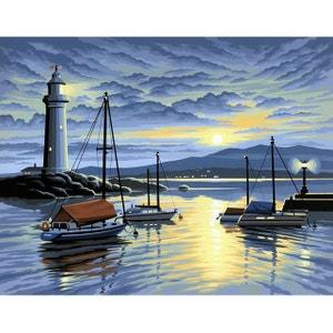 Peinture au numéro Initiés : Coucher de soleil sur le phare OZ INTERNATIONAL