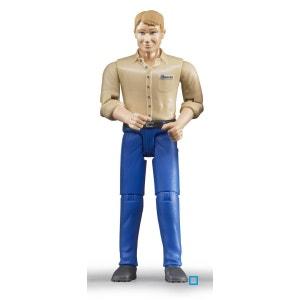 Homme Blond avec Jean Bleu - BRU60006 BRUDER