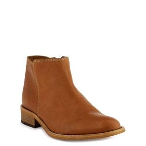 Femi Leather Ankle Boots COSMOPARIS