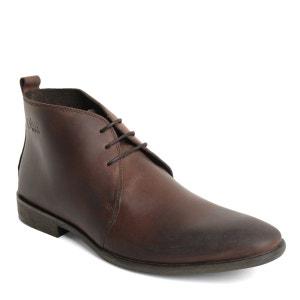 Boots middle en cuir, à lacets BASE LONDON