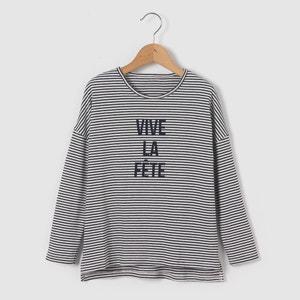 Camiseta de manga larga de algodón orgánico 3-12 años R essentiel