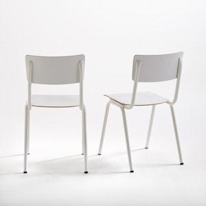 Set of 2 Tubluar Steel Hiba School Chairs La Redoute Interieurs
