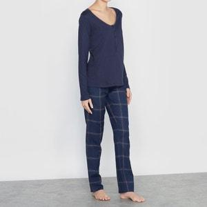 Pijama a cuadros de algodón modal La Redoute Collections