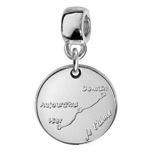 Charm Pampille Médaille Courbe d'Amour Argent 925 - Compatible Pandora, Trollbeads, Chamilia, Biagi SO CHIC BIJOUX