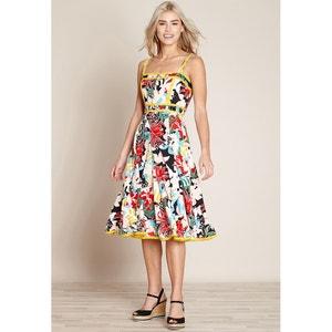 Wijde jurk met bloemenprint YUMI